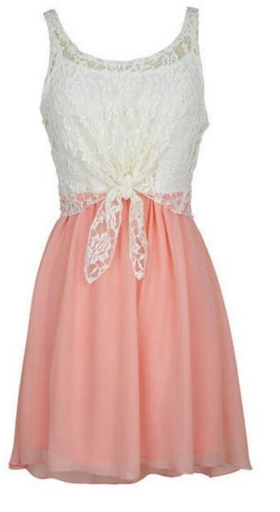 Lace knot dress