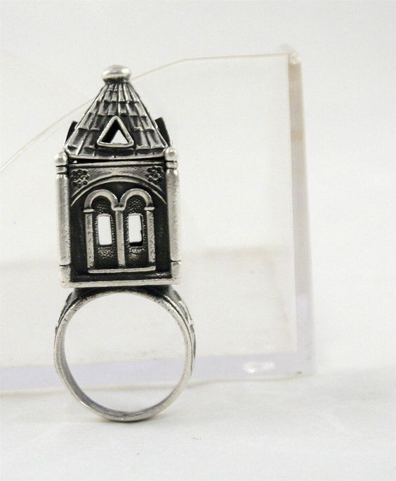 Russian Antique Judaica Sterling Silver 84 Bridal Jewish Wedding Ring 19th:
