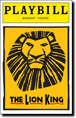 The Lion King Playbill Covers on Broadway - Information, Cast, Crew, Synopsis and Photos - Playbill Vault