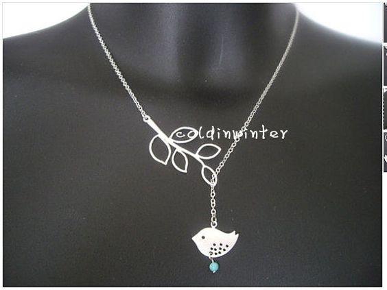 Regalo di Natale gioielli di ramo uccello di coldinwinter su Etsy, $6.99