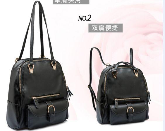 this bag has 2 kinds of usage  1:shoulder bag  2:backpack