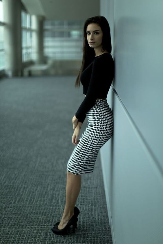 Sexy, Black stilettos and Skirts on Pinterest