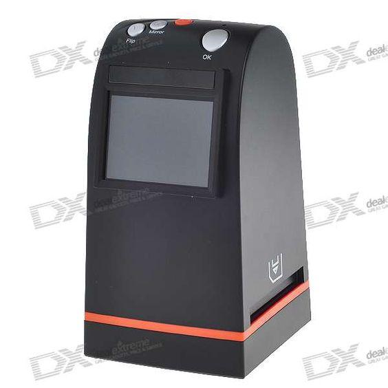 """Scaner de negativos fotograficos... 2.5"""" LCD 35mm Roll/Slide/Negatives Film Scanner with SD Slot + USB + TV-Out (PAL/NTSC)"""