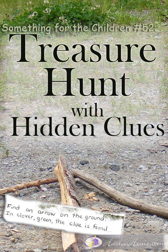 52 treasure hunt with hidden clues hunt s clovers and arrows