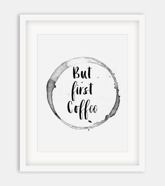 """Typographic Print """"But First Coffee"""",Printable Quote,Motivational…"""