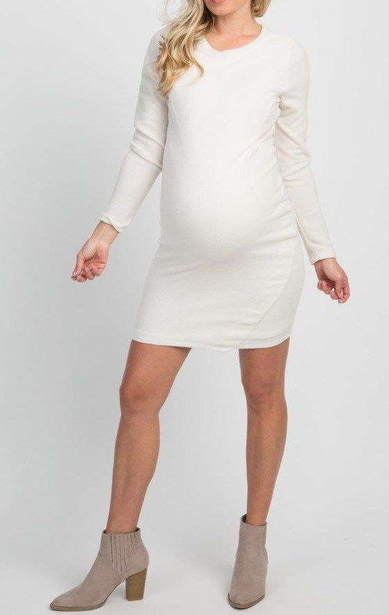 White Fitted Maternity Dresses White Maternity Dresses White Long Sleeve Sweater White Maternity Dresses Fitted Maternity Dress