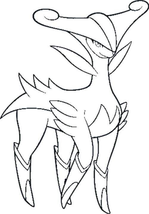 Virizion pokemon kleurplaat