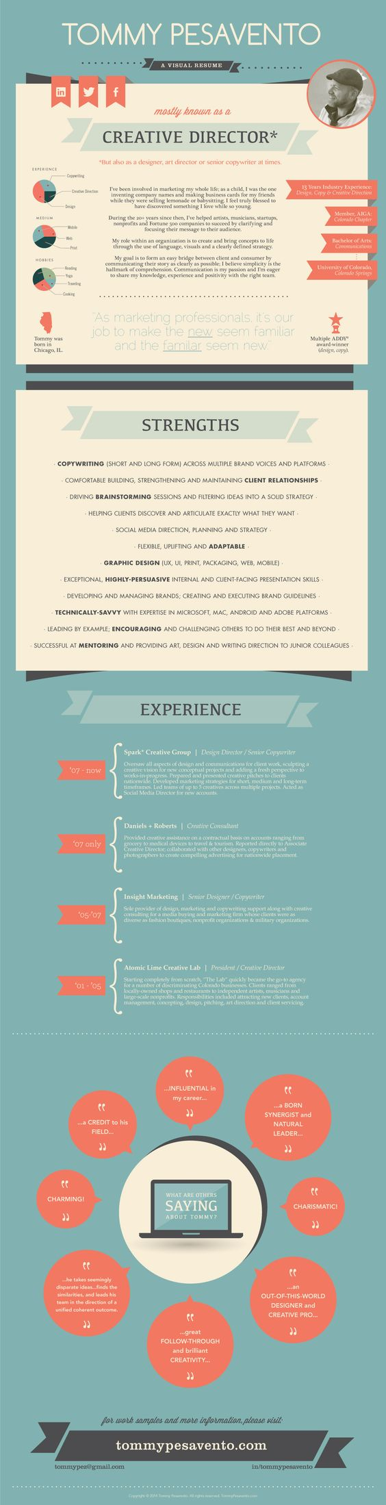 infographic my visual resume tommy pesavento infograf iacute as infographic my visual resume tommy pesavento