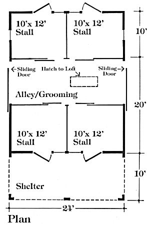 Chestnut four stall horse barn plans put another for 4 stall barn plans