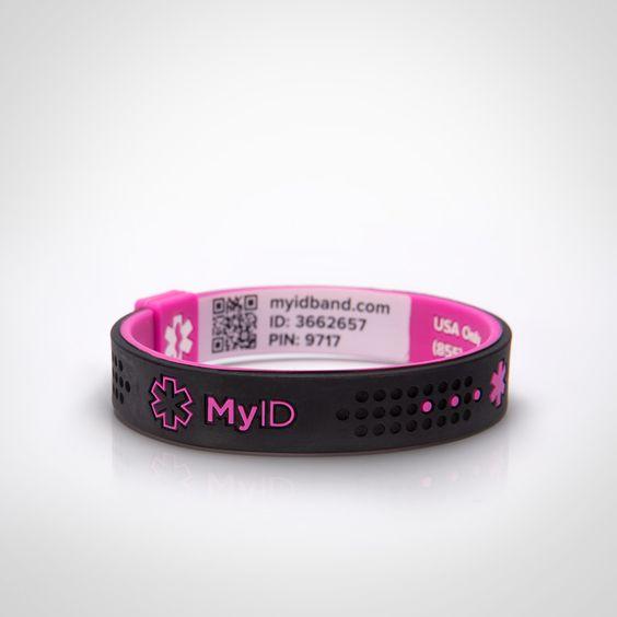 sports and id bracelets on