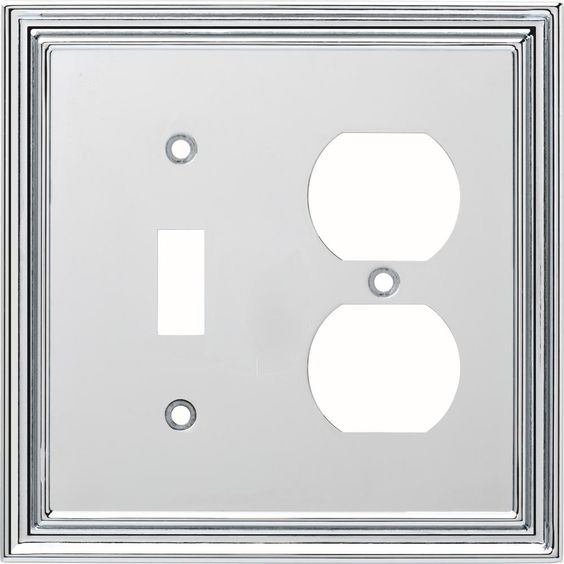 Liberty Chrome 2 Gang 1 Toggle 1 Duplex Wall Plate 1 Pack W36283 Pc C Plates On Wall Switch Plates Steel Wall