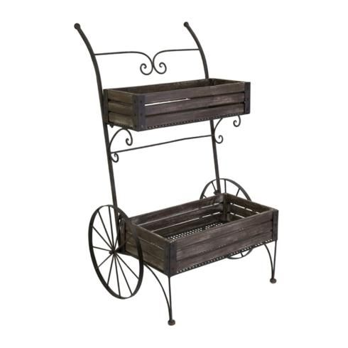 The picturesque Fairbanks planter cart will bring timeless charm to your indoor garden or enclosed patio.