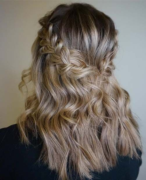 21 Cute Hairstyle Ideas For The Holidays Page 2 Of 2 Stayglam Party Hairstyles Medium Medium Length Hair Styles Easy Hairstyles