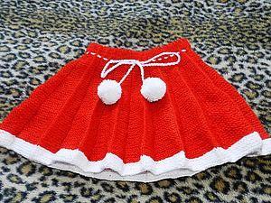 Вяжем на спицах плиссированную юбочку для девочки 3-5 лет   Ярмарка Мастеров - ручная работа, handmade: