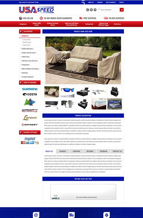 Best Innovative EBay Listing Template Images On Pinterest Ebay - Ebay website template