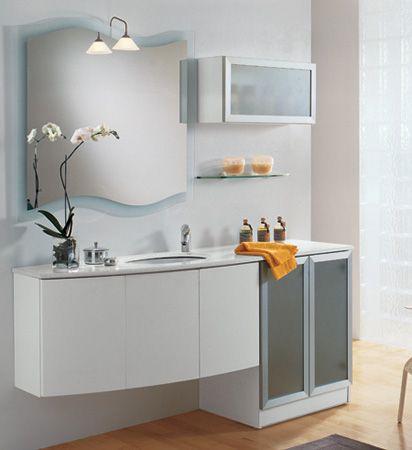 Mobile bagno con lavatrice per il bagno pinterest for Arredare bagno piccolo con lavatrice