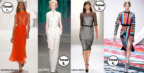 De winter moet nog beginnen, maar alle modebedrijven zijn  al druk bezig met de nieuwe trends voor de lente van 2013. Misschien moet je nog even niet denken aan lente outfits, maar toch vind ik het altijd fijn om te weten wat er komen gaat. Zelf ben ik altijd graag op de hoogte van de laatste mode trends, maar het help