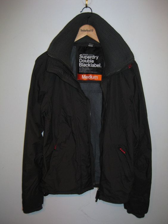 "SUPERDRY DOUBLE BLACK LABEL MENS JACKET SIZE UK MEDIUM (38"" CHEST) RRP 80 https://t.co/rBglbdmue2 https://t.co/GewefvUYbg"