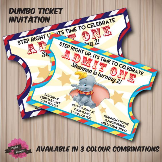 Ticket Disney Parties And Invitations On Pinterest