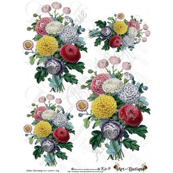 Papier Decoupage - Kwiaty Ka-9