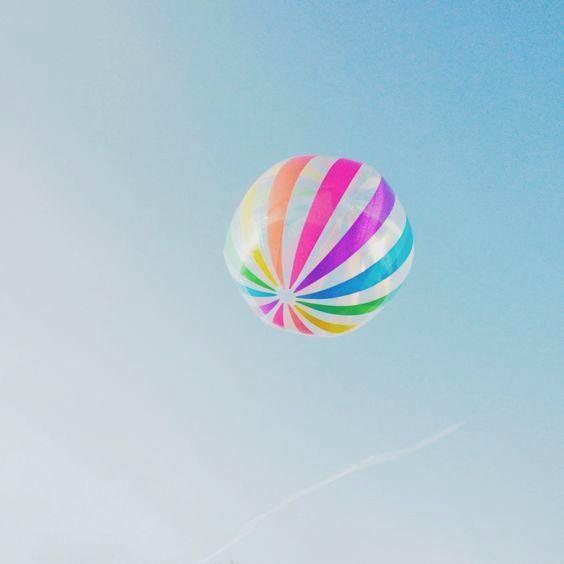 Summer Fun Beach Ball In Mid Air With Images Summer Fun