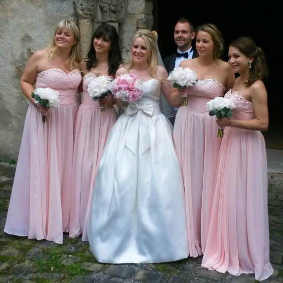 Robe rose pour mariage