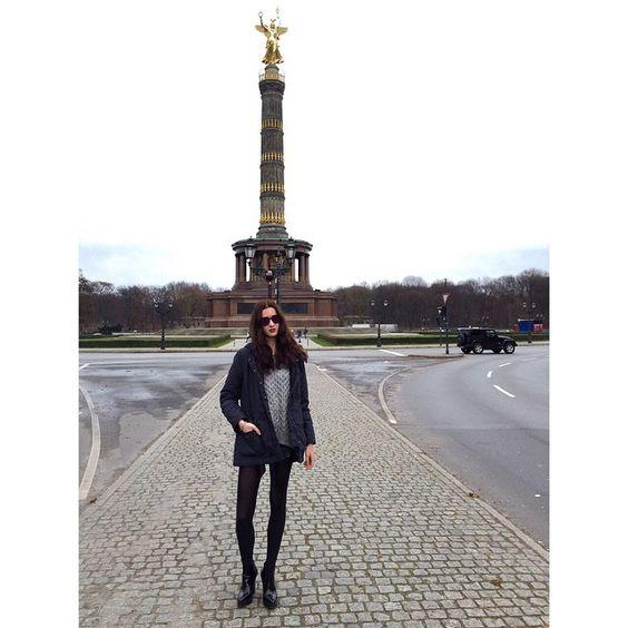 """"""" New Generation"""" - @ Berlin Model , Maren Behringer wears shades Anderne """" Against All Odds """" black - mirror lenses style ! @maren_beh @anderneeyewear"""