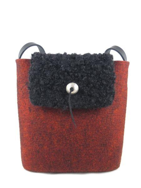Filztasche, Handtasche, Umhängetasche von Filzvoll auf DaWanda.com