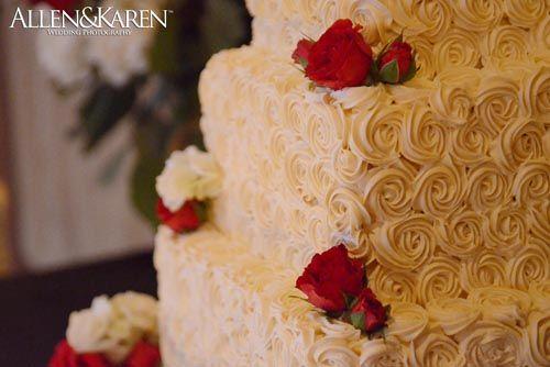Cake from West Side Bakery - Gervasi Vineyard Wedding  Photo by www.AllenKarenPhotography.com
