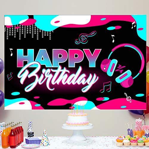 Musical Themes Happy Birthday Backdrop Birthday Yard Sign Tik Tok Party Decorations Video Studio Birthday Backdrop Birthday Yard Signs Happy Birthday Printable