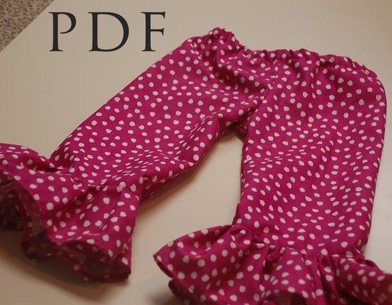 Ruffle Pants - SEWING PATTERN | Free printable sewing patterns ...