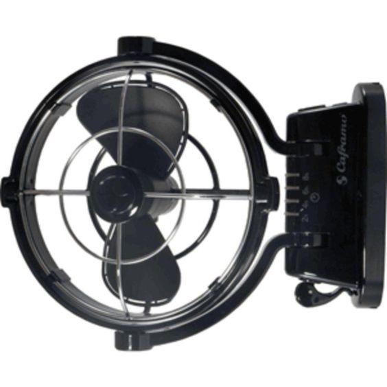 Caframo Sirocco 807 12V 3-Speed 7 Gimbal Fan - Black
