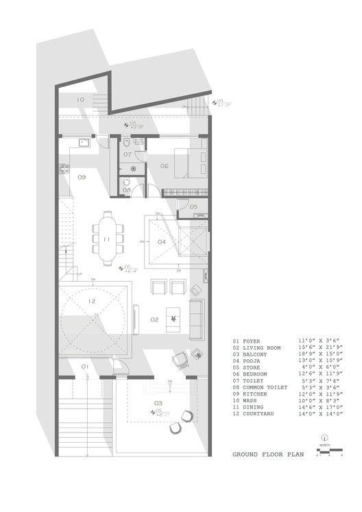 Gallery Of Jungalow House Neogenesis Studi0261 21 In 2020 Courtyard House Plans Floor Plans Courtyard House