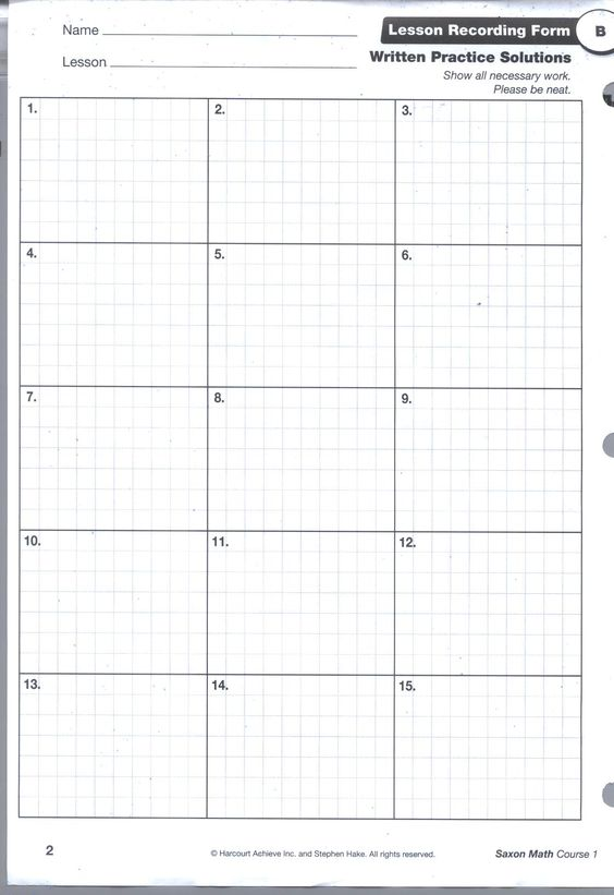 Printables Saxon Math 4th Grade Worksheets saxon math and on pinterest grid pg1