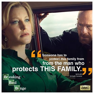 Someone has to protect this family from the man who protects this family - Skyler