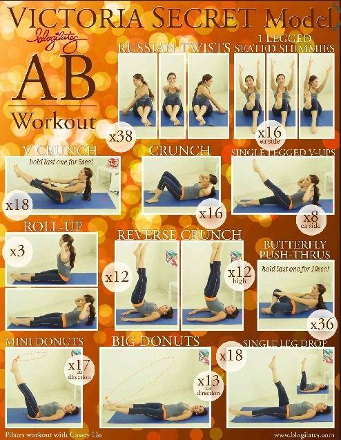 Victoria Secret Ab Workout [ SkinnyFoxDetox.com ] #fitness #skinny #health
