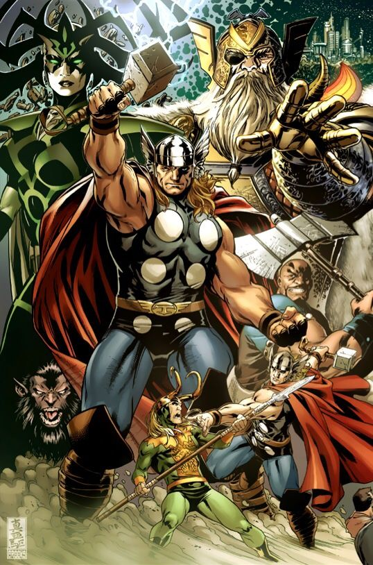 Asgardians by Mark Brooks