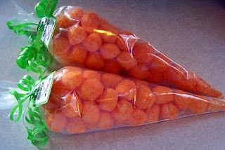 Cute Easter snack.  Cheeseballs!!!