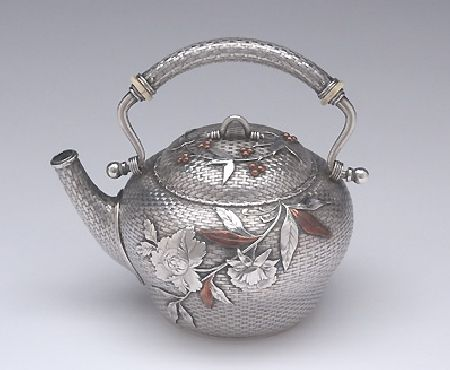 The Bowers/ Taft Family Aesthetic Movement Sterling Silver and Mixed-Metal Tête-à-tête Tea Service by Whiting, c. 1887