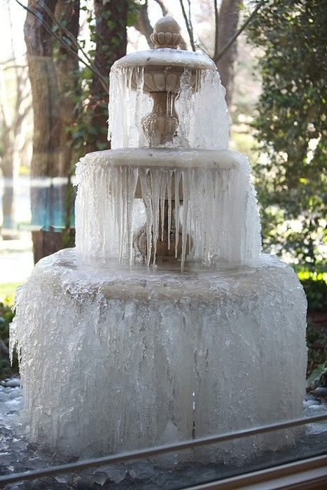 <3: Snow Ice, Ice Ice, Water Fountain, Ice Sculpture, Nature, Winter Wonderland, Wedding Cakes