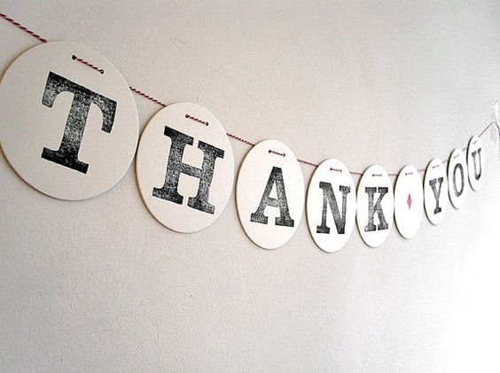 THank YOU   Garland  by renna deluxe