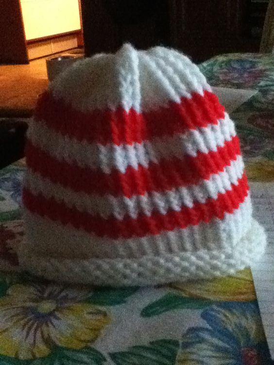 Loom Knit Baby Hat Tutorial : Baby hat loom knitted with martha stewart s