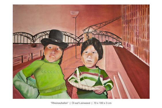 Südamerikaner im Kölner Rheinauhafen