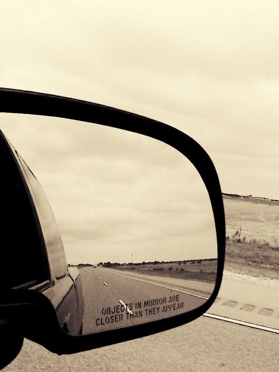 Reflection in side truck mirror. By Destiny Richards.
