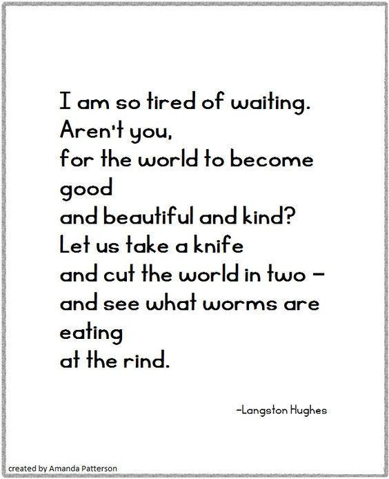 Quotable - Langston Hughes: