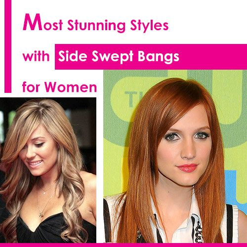 Most Stunning Styles With Side Swept Bangs For Women Side Swept Bangs Curls For Long Hair Medium Hair Styles