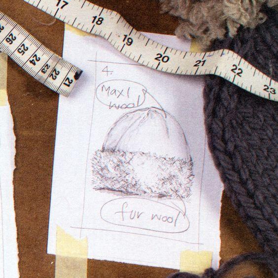 Knit it Tonight Poster by Erika Knight leuk om te breien van dikke zwarte wol en de rand van wol met frummeltjes