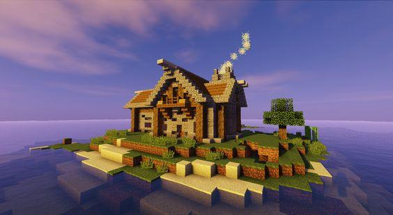 Built a little house on an island spawn (creative)