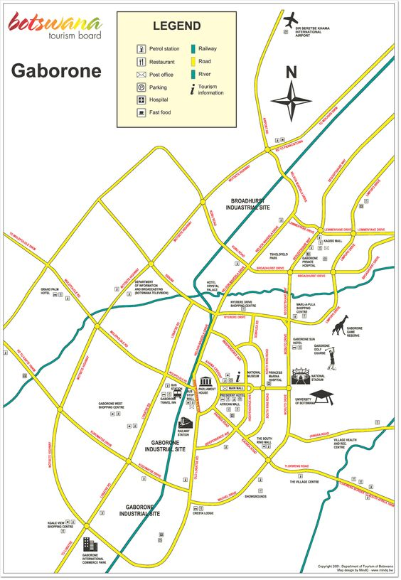 Gaborone City Map Botswana Pinterest City maps City and
