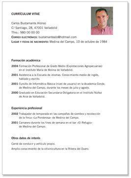 Para Espana Curriculum Vitae Curriculum Vitae Simple Modelos